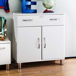 Garderoben Kommode in Weiß Retro
