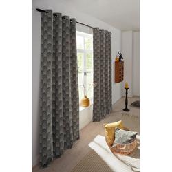 Vorhang CHENILLE, Leonique, Ösen (1 Stück) grau 140 cm x 175 cm