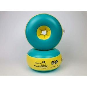 Kraulquappen Cherek ́s Anfänger grün/gelb Schwimmflügel für Kinder Babys ab dem 8 Monat bis 30kg, TÜV Süd Zertifiziert