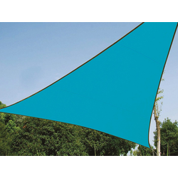 PEREL Sonnensegel, dreieckig Dreieck-Segel für Terrasse Balkon & Garten Sonnenschutz-Segel - Terrassenüberdachung blau 500 cm x 500 cm x 500 cm