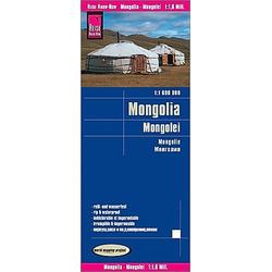 Reise Know-How Landkarte Mongolei (1:1.600.000); Mongolia / Mongolie - Buch