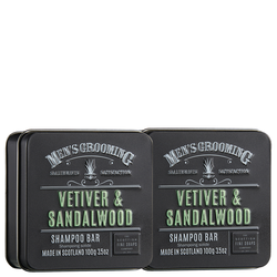 Men's Grooming Vetiver & Sandelholz Shampoo Bar 100g x 2