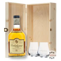 Geschenk-Set Dalwhinnie 15 YO Whisky in Holzkiste