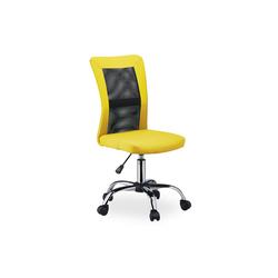 relaxdays Drehstuhl Bürostuhl Drehstuhl gelb