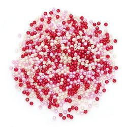 Acrylwachsperlen, rosa-creme-rot, 4 mm Ø, 25 g