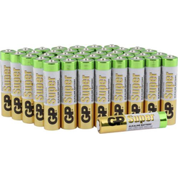 GP Batteries Super Micro (AAA)-Batterie Alkali-Mangan 1.5V 40St.