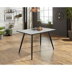 HELA Esstisch Linea III, Breite 120 cm grau Holz-Esstische Holztische Tische
