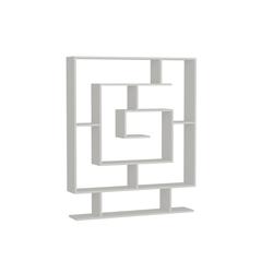 moebel17 Standregal Bücherregal Sarmasik Weiß, mit ausgefallenem Design
