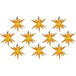 HGD CW62-1004 Motiv-Lichterkette Weihnachtssterne Innen/Außen Anzahl Leuchtmittel 10 LED Beleuchtet