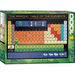 empireposter Puzzle Periodensystem der Elemente - 1000 Teile Puzzle - Grösse 68x48 cm, Puzzleteile