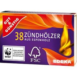 GUT&GÜNSTIG Streichhölzer   10x 38 St.