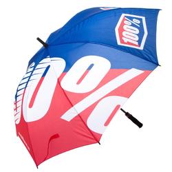 100% Regenschirm Umbrella Premium Blau/Rot