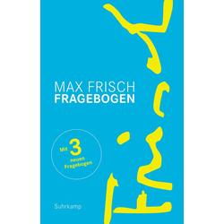 Fragebogen als Buch von Max Frisch