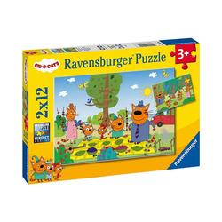 Ravensburger Puzzle Puzzle Familientag in der Natur, 2x12 Teile, Puzzleteile