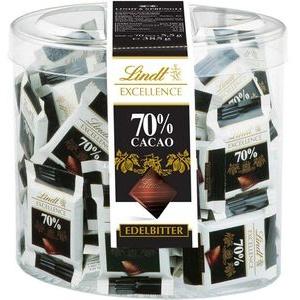 Lindt Minischokolade Excellence Minis 70% Cacao, Mini-Tafeln, 385g, 70 Stück
