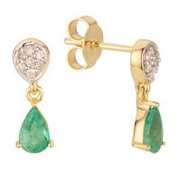 ROYELLE Kolumbianischer Smaragd ca. 0,64ct Ohrhänger Gold 585