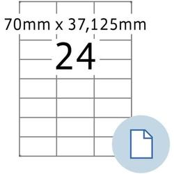 Etiketten A4 Papier weiß 70x37,1mm 500 Blatt/12000 Etiketten