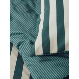 Marc O'Polo Classic Stripe grün (135x200+80x80cm)