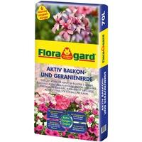 Floragard Aktiv Pflanzenerde für Balkon und Geranien 70 l
