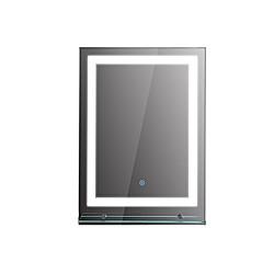 LED Badezimmerspiegel mit Glas-Ablage