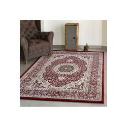 Teppich Ein klassischer Orient Teppich dicht gewebt in Farbe rot, Vimoda 80 cm x 150 cm