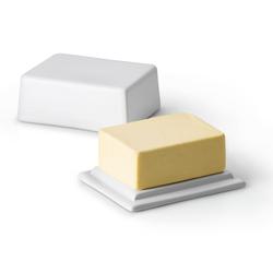 CONTINENTA  Butterdose Keramik weiß für 250 g Stücke