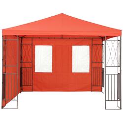 Tepro Pavillonseitenteile, mit 2 Seitenteilen, (Set bestehend aus 1 Seitenteil geschlossen, 1 Seitenteil mit 2 Fenstern), passend für Pavillon Kaemi