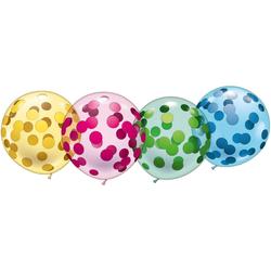 """Karaloon Luftballon 4 Riesen-Kristallballons """"Konfetti"""""""