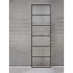 Jan Kurtz Möbel Handtuchleiter Hip schwarz, Designer Jan Kurtz, 170x50x1.5 cm