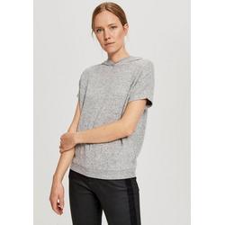 OPUS Kapuzensweatshirt Gubine mit kurzen Ärmeln grau 42