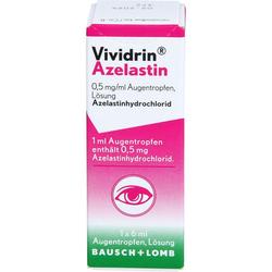 VIVIDRIN Azelastin 0,5 mg/ml Augentropfen 6 ml