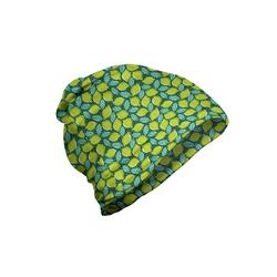 Abakuhaus Beanie Wandern im Freien Zitronen Kalk und Pfefferminze Muster
