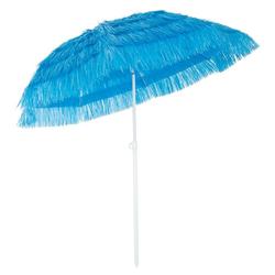 Kingsleeve Sonnenschirm, 160 cm Neigbar Höhenverstellbar Erdspieß Robust Standsicher leichter Transport Hawaiischirm Strandschirm Strandsonnenschirm blau
