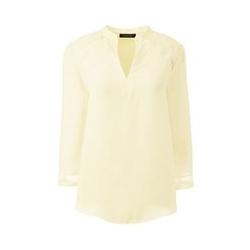 Tunika-Bluse mit Organza-Details - S - Weiß