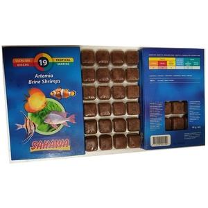Neu!!!Sahawa® blau Fischfutter, Frostfutter,5X 100g Blister Artemia + 1x100g Futtersticks zum Testen