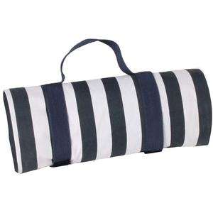 Les Jardins de la Comtesse - Quadratische Picknickdecke XL Marine - Picknickdecke aus Baumwolle mit Wasserabweisender Rückseite/Polyester - Blau und Weiß - Auch für Gartentisch - 140 x 140 cm
