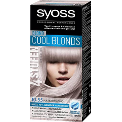 3 x Syoss Blond Cool Blonds Haarfarbe 10-55 Platinum Blond Stufe 3 je 115ml