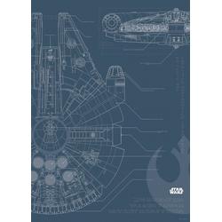 Komar Poster Star Wars Blueprint Falcon, Star Wars 50 cm x 70 cm
