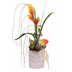 Kunstpflanze Anthurie Heliconia/Anthurie, Höhe 67 cm