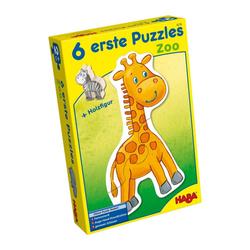 Haba Puzzle 6 Erste Puzzle Zoo 13-tlg., 12 Puzzleteile bunt
