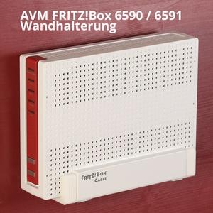 Router Wandhalterung AVM FRITZ!Box 6590 und 6591 Cable - 3 Wandhaken - TOP