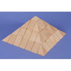 groes Pyramiden-Set aus Buche 12 cm