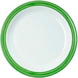 Dessertteller 19,5 cm Bistro - weiss/grün