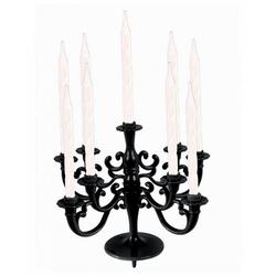 Horror-Shop Kerzenständer Torten & Kuchen Kerzenständer Schwarz