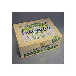 Saatgut-Holzbox Salatvielfalt  7 Saatgut-Sorten