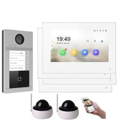 WLAN IP Türsprechanlage für 4-Familienhaus mit RFID und HD Kamera 2 Kameras