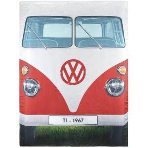 VW Collection by BRISA Doppelschlafsack Rote VW Bulli Fron & Blaue VW Bulli Rückseite