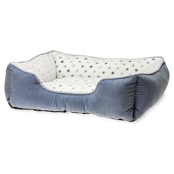 Karlie Hundebett Dot grau-blau, Maße: 55 x 50 cm