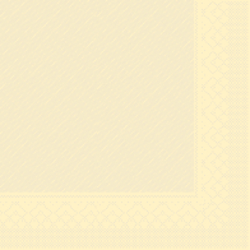 "Mank Tissue Deluxe Servietten ""Basics Uni"", 40 cm x 40 cm, 1/4 Falz, 4-lagig, Farbe: creme, 1 Karton = 6 x 50 Stück = 300 Servietten"