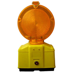 Baustellenleuchte mit LED, gelb / mit Schloss